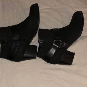 Mission black ankle boots size 11